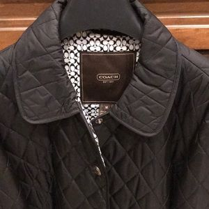 Quilted Coach button down jacket